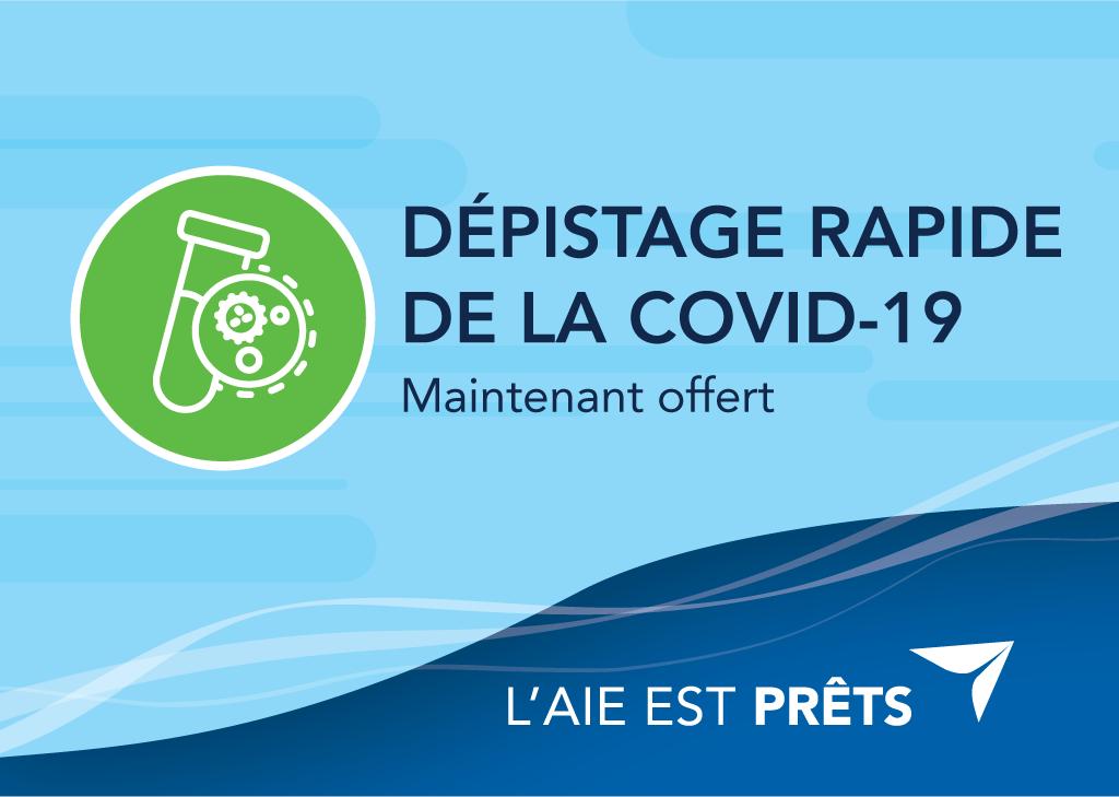 FRENCH IMAGE - Dépistage rapide de la covid-19 maintenant offert - image pour les médias