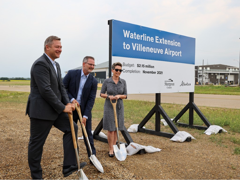 New waterline project helps build the future for the Villeneuve Airport