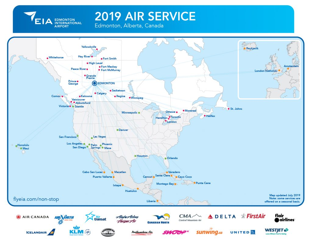 Non-stop Air Service Map / Fact Sheet
