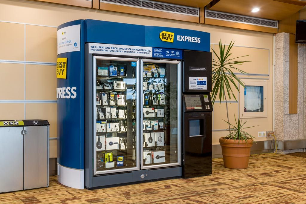 Photograph of Best Buy Express Vending Machine