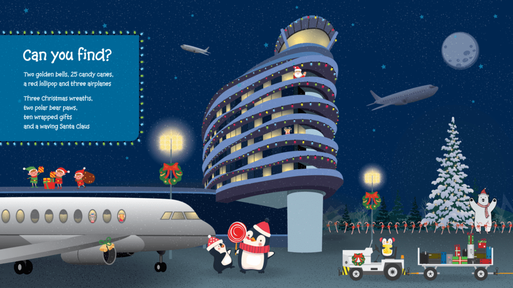 Can you find graphic - image of EIA tower and christmas graphics