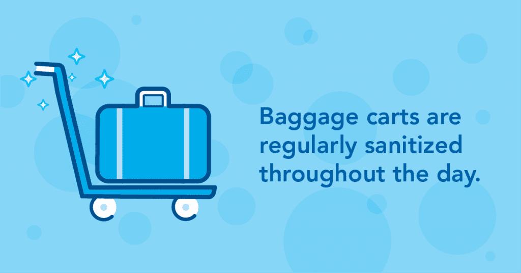 EIA ready campaign Baggage Carts Sanitization