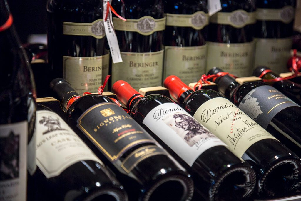 Photograph of various red wines