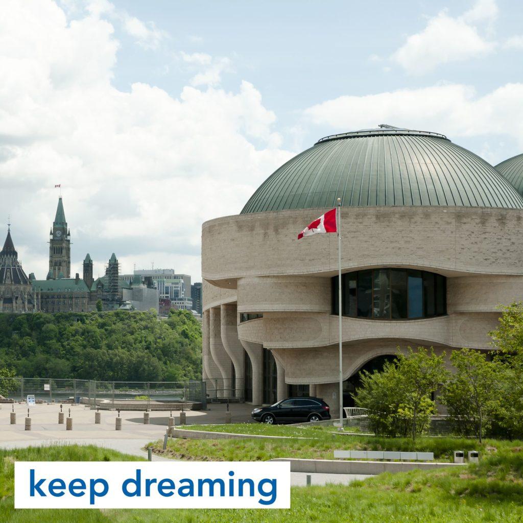 Canadian History Hall in Ottawa, Canada
