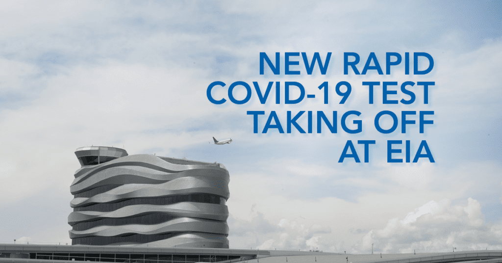 New rapid COVID-19 test taking off at EIA