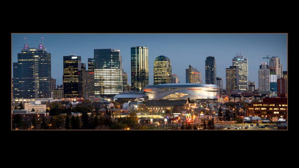Photograph of Edmonton skyline - PPOC (Professional Photographers of Canada)