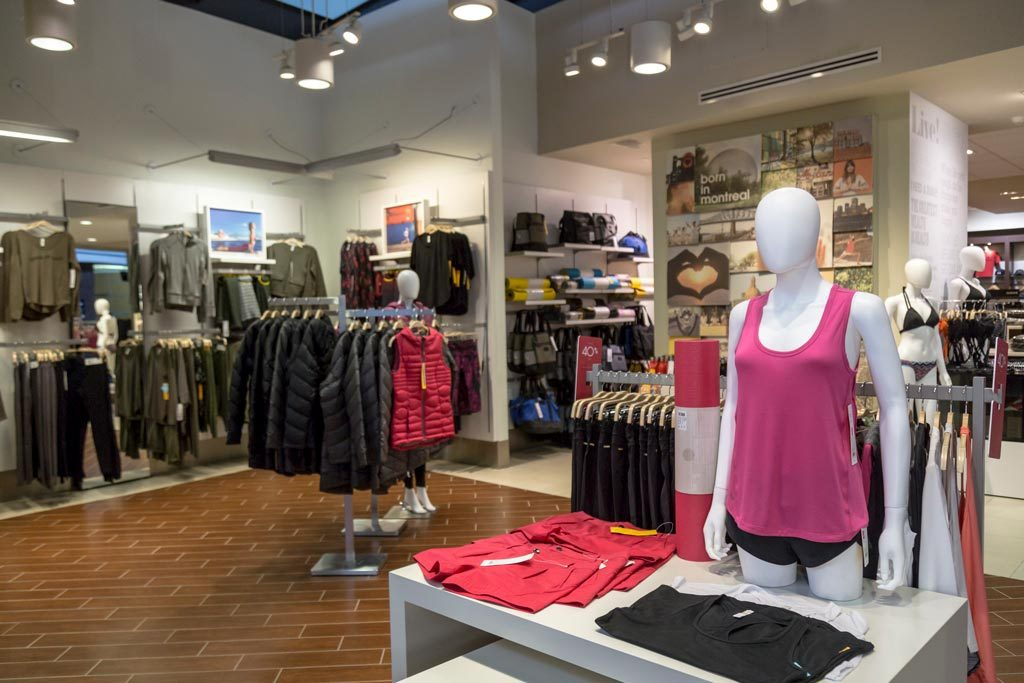 Photograph of clothing and outwear sold at Lolë