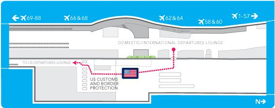 US Quick Connect Edmonton International Airport - Large airport us map