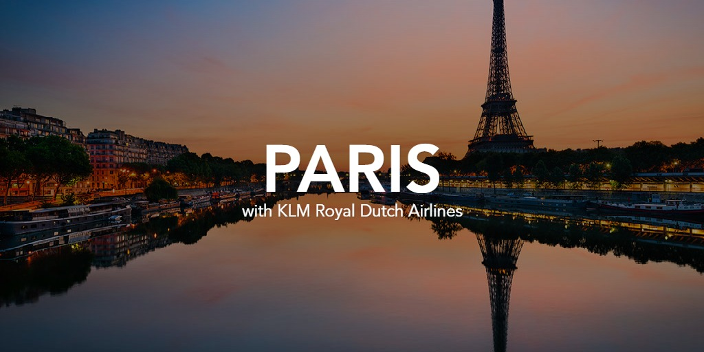 Paris with KLM Royal Dutch Airlines